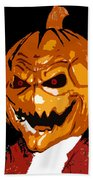 Pumpkin Head Beach Towel