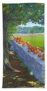 Pumpkin Muster Beach Towel