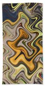 Pumpkin On Fence Abstract # 6822 Wwt Beach Towel