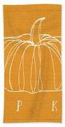 Pumpkins- Art By Linda Woods Beach Towel