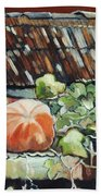 Pumpkins On Roof Beach Towel