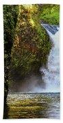 Punch Bowl Falls, Oregon Beach Towel