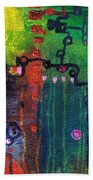 Punctuated Silences Beach Towel