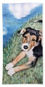 Puppy Max Beach Towel
