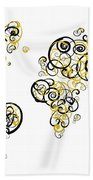 Purdue University Colors Swirl Map Of The World Atlas Beach Towel