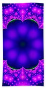 Purple And Pink Glow Fractal Beach Towel