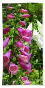 Purple And White Bell Flowers Beach Towel