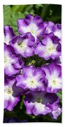 Purple And White Bouquet Beach Towel