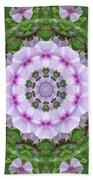 Purple And White Flowers  Beach Towel