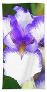 Purple And White Iris Beach Sheet