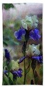 Purple And White Irises 6647 Dp_2 Beach Towel