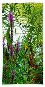Purple And Yellow Beach Sheet