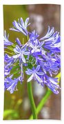 Purple Bells And Blossoms Beach Towel