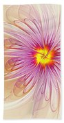 Purple Blossom Beach Towel
