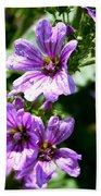 Purple Blossoms Beach Towel