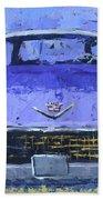 Purple Cadillac Beach Towel by David King