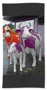 Purple Cow 2 Beach Towel