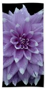 Purple Dahlia Cutout Beach Towel