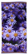 Purple Daisy Abstract Beach Towel