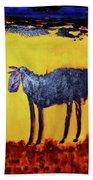 Purple Desert Donkey Beach Towel