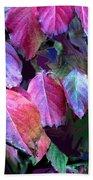 Purple Fall Leaves Beach Towel