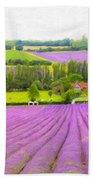 Purple Fields Of Love Beach Towel