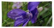 Purple Flower 2 Beach Towel