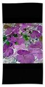 Purple Flower Wishes Beach Towel