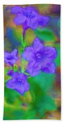 Purple Flowers 102310 Beach Towel