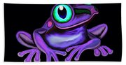 Purple Frog  Beach Towel