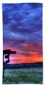 Purple Haze Sunrise The Iron Horse Beach Towel