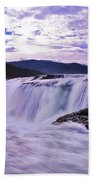 Purple Haze Waterfall Beach Towel