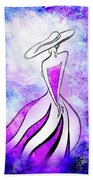 Purple Lady Charm Beach Towel