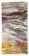 Purple Land Beach Towel