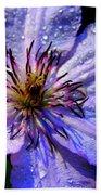 Purple Lilly Beach Towel