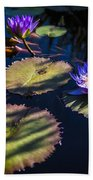 Purple Lily Beach Towel