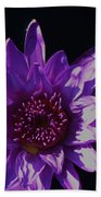 Purple Lily Monet Beach Towel