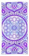 Purple Lotus Mandala Beach Towel