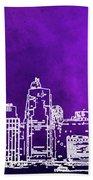 Purple Manhattan Beach Towel