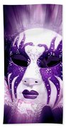 Purple Mask Flash Beach Towel