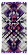 Purple Maze Beach Towel