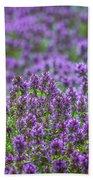 Purple Meadow 3 Beach Towel