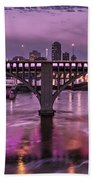 Purple Minneapolis For Prince Beach Towel