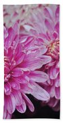 Purple Mums Beach Sheet