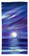 Purple Night Beach Towel