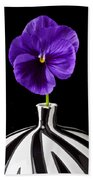 Purple Pansy Beach Towel