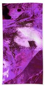 Purple Passion Abstract Beach Towel