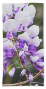 Purple Petals Beach Towel