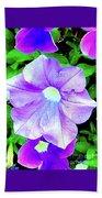Purple Petunias 2 Beach Towel