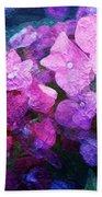 Purple Pink Painterliness Beach Sheet
